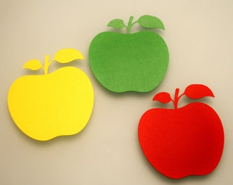 Paper apples, READY TO SHIP 20 pcs, Any size paper apples, Any color of your choice, Apple die cut, Apple cutout, Paper fruit, Apple cut out