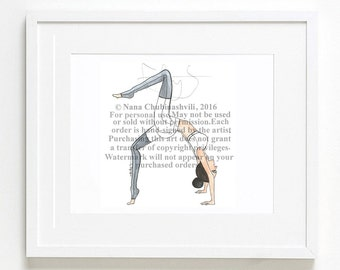 Yoga Girl. (Instant download)