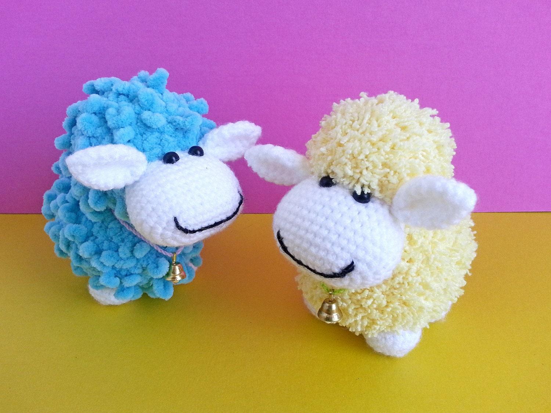 Amigurumi Crochet Size : Crochet sheep. Stuffed toy. Amigurumi plushies. Small size.