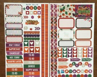 Welcome Fall Medium Personal MM Stickers Louis Vuitton Mambi Inkwell Press Filofax Kikki K Happy Life Planner LV Orange, Purple, Green