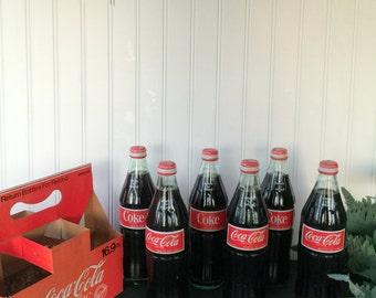 Coca Cola Vintage 6 Pack Bottles