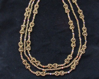 Three strand Art Nouveau necklace