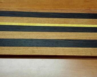 Handcrafted solid wood cutting board 42 x 20 x 1.5 cm
