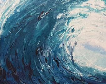 """Abstract Art Painting """"Bombora"""""""