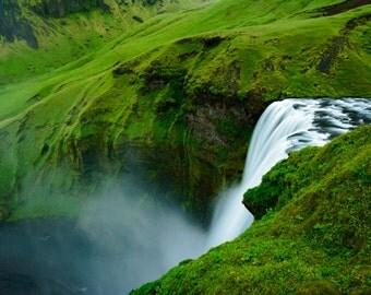 ICELAND Waterfall, Skogafoss