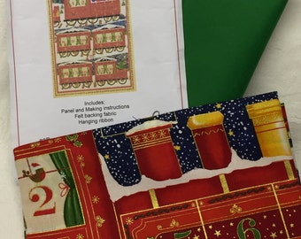 Christmas 'Makeower' Santa's Train Advent Calendar Kit - Crafting, Patchwork, Sewing, Appliqué