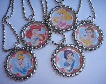 Disney Princess Necklaces Set of 5