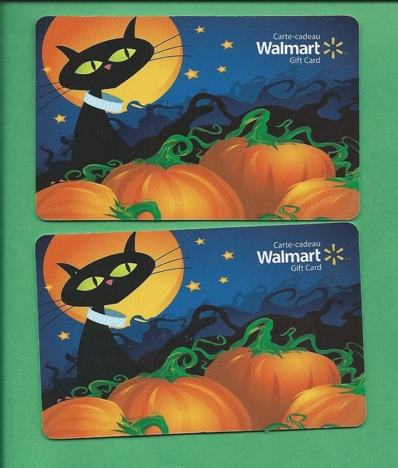 Items similar to Walmart Halloween Gift Cards No Value on Etsy