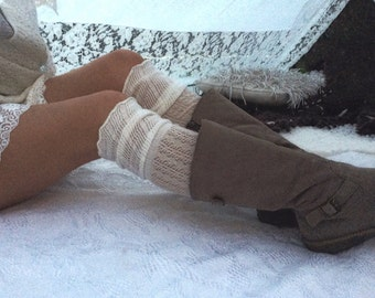Boho chic pair of above the knee long socks comes in three colors / bohemian socks / longsocks / boho style knee high socks