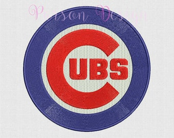 Chicago Cubs - 7 Size Embroidery Designs Baseball Logos ~ INSTANT DOWNLOAD ~ Machine Embroidery Pattern