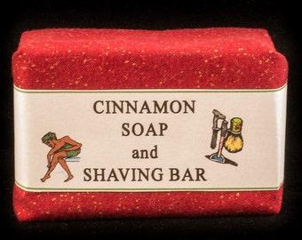 Cinnamon Soap and Shaving Bar