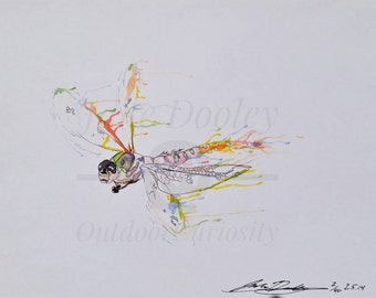 Dragonfly - Watercolor - Print