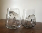 Marbled Wine Glasses - Watercolor effect - Set of 2