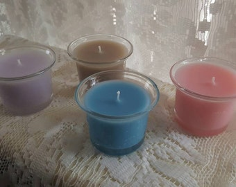 Votive scented candles.