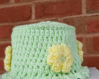 Spring Crochet Toilet Paper Cover/ Spare Roll Cover/Toilet Paper Holder/Bathroom Decor