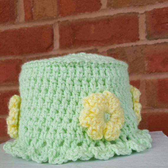 Spring Crochet Toilet Paper Cover Spare Roll Cover Toilet