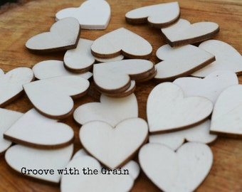 Small wood hearts, Unfinished Wood Hearts, Wedding table decor, Rustic Wedding, Wood Supplies, Supplies, Wedding Decorations READY TO SHIP
