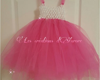 Dress in tulle for little girl of 1 year