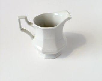 Vintage ceramic white creamer pitcher/gravy pitcher