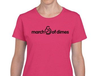 March of Dimes charity ladies t-shirt