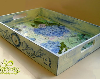 Handmade Vintage Wooden Tray