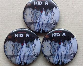 "Radiohead ""Kid A"" Pinback Button"