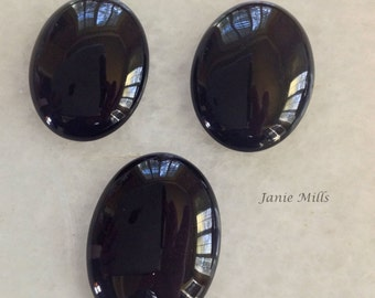 Onyx Black Cabochon 30 x 40mm