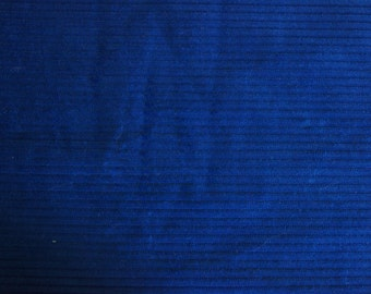 "Almost 3 Yds Midnight Blue Corduroy Fabric 103"" X 64"" in time for Winter Sewing"