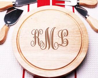 Script Monogram  5 pc. Gourmet Cheese Board Set (MICFJM4989968-F)