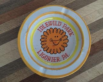 Idlewild Amusement Park Souvenir Ashtray Ligonier PA. Vintage