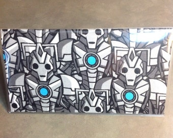 Doctor Who Cyberman Checkbook Cover, Dr Who checkbook wallet cover Whovian gift