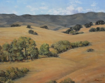 """Oil on Canvas Painting """"Happy Canyon"""""""
