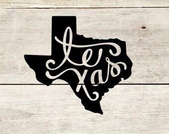 Texas  Decal for Yeti/Tumblers, laptop or car window