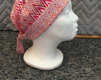 Flaming hot zig zags Surgery/Chemo hat