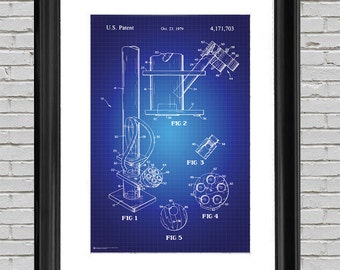 Blueprint art etsy bong pipe blueprint art print 24x36 wall art 420 dorm room poster malvernweather Gallery