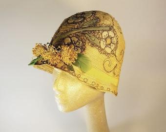 1920's Woven Straw Flapper Cloche