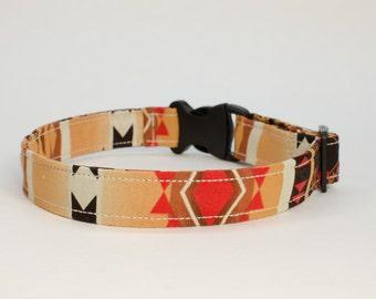 Buckle Collar, Martingale Collar, Dog Collar, Collar, Aztec Brown & Red