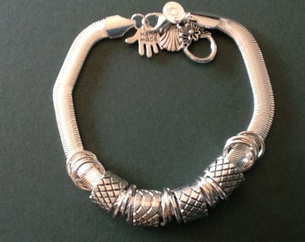 Snake bracelet 925 sterling silver bead bracelet