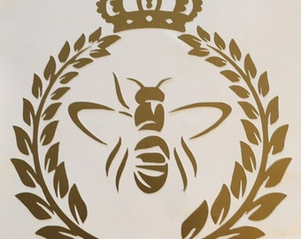 Queen Bee Decal 4x4 Pick Your Color