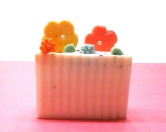 Flower Garden , handcrafted soap