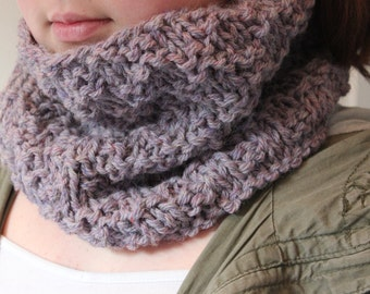 Ladies knitted cowl, neckwarmer, scarf