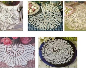 5 pcs crochet doily pattern-only diagram-in pdf-13