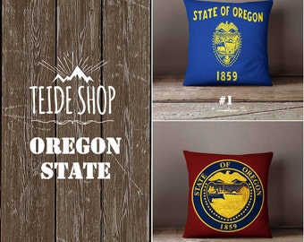Oregon Pillow Cover Etsy