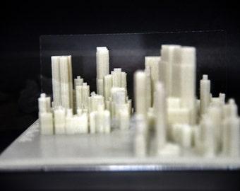 3D printed buildings--Columbus Circle, New York City