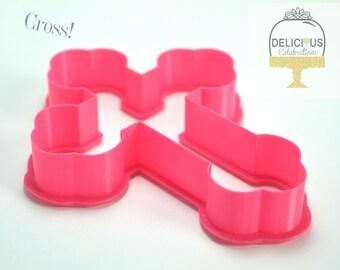 Cross Cookie Cutter, 3D Printed
