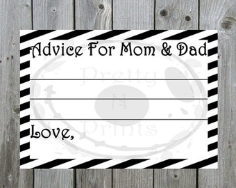 Advice Cards -The Nightmare Before Christmas - Baby Shower Game - Instant Download - Print At Home - DIY - A0001