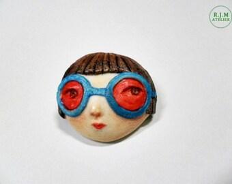 fridge magnet,red sunglasses girl,refridgerator magnet