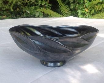 Deco black lustre dish by Beswick England