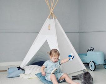 Tipi, Teepe, Tipi kids, Playtent, Kids tents, Wigwam, Zelt, Tent, tipi enfants, White