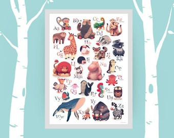 ABC poster for kids - animal alphabet